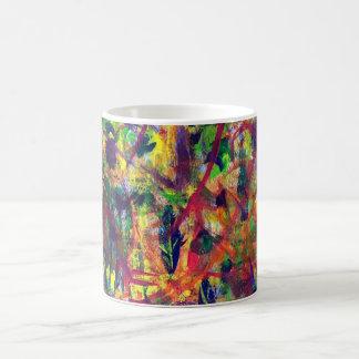 """Tasse de café acrylique de peinture """"de danse"""