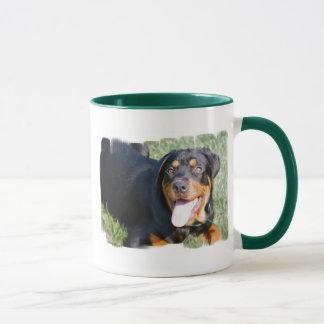 Tasse de café amicale de rottweiler