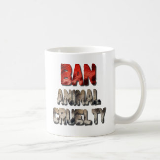 Tasse de café animale de cruauté d'interdiction