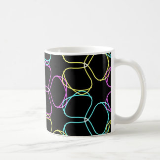 Tasse de café au néon de trèfle