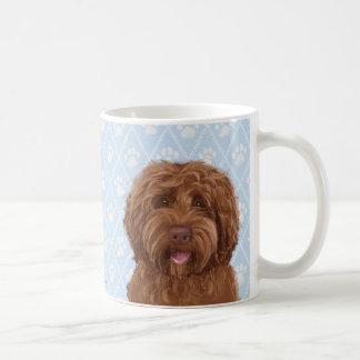Tasse de café australienne de labradoodle