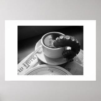 Tasse de café avec la tentacule posters