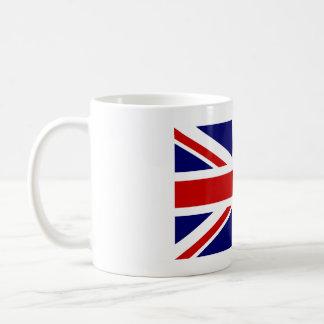Tasse de café avec le drapeau britannique d'Union