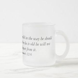 Tasse de café avec le vers de bible