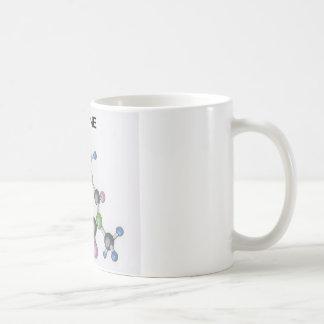 tasse de café avec une image d'une molécule de
