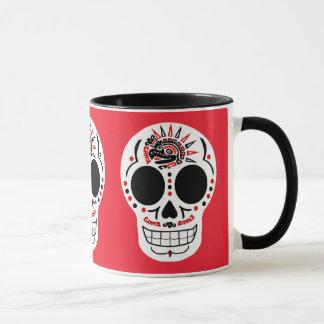Tasse de café aztèque de CasaQ Eagle Calavera