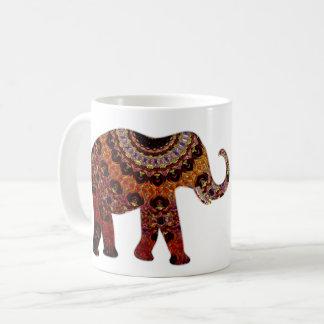 Tasse de café aztèque d'éléphant