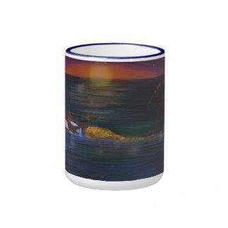 Tasse de café bleue de la sonnerie 15oz de sommeil