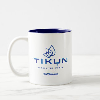 Tasse de café bleue de Tikun