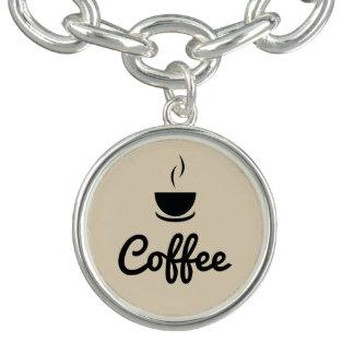 Tasse de café/brun clair bracelets avec breloques