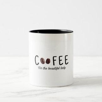 """Tasse de café, """"café pour la belle dame. """""""