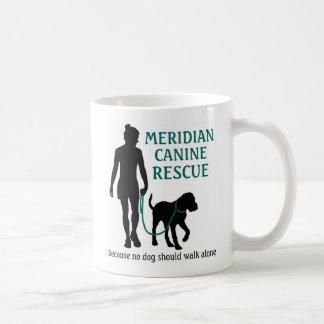 Tasse de café canine méridienne de logo de