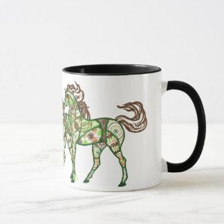 Tasse de café caracolante celtique de cheval