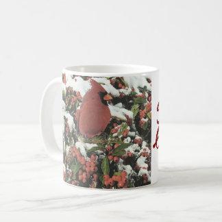 Tasse de café cardinale de vacances de Bonnes