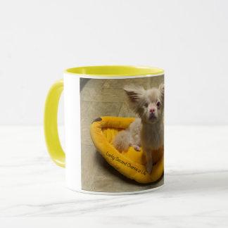 Tasse de café chanceuse de lit de banane