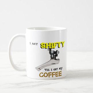 Tasse de café changeante