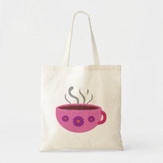 Tasse de café chaude sac en toile