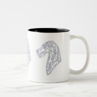 Tasse de café classique avec le crâne de sucre de