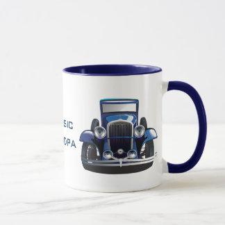 Tasse de café classique de conception de voiture