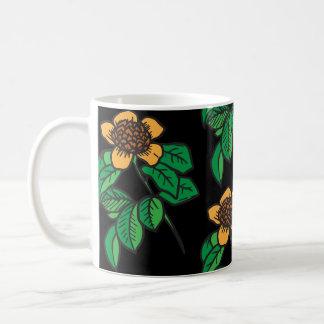 Tasse de café colorée de tournesol