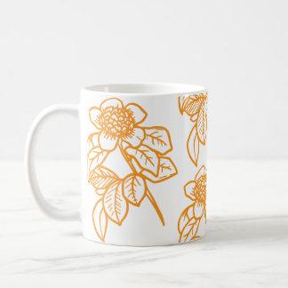 Tasse de café colorée d'or de tournesol