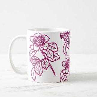 Tasse de café colorée par baie de tournesol