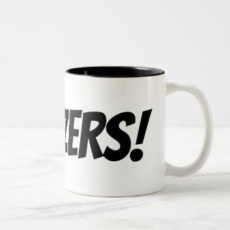 Tasse de café comique drôle de typographie de