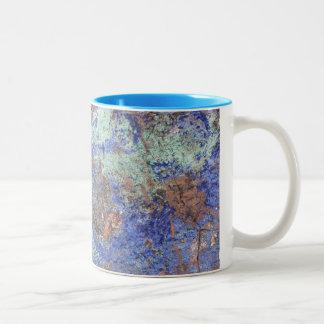 Tasse de café--Cuivre bleu