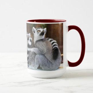 Tasse de café d'amour de lémur