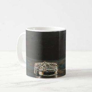 Tasse de café d'anneaux de mariage