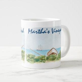 Tasse de café d'aquarelle de Martha's Vineyard