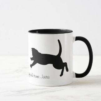 tasse de café de attaque subit d'ombre de chat