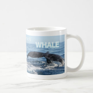 Tasse de café de baleine d'océan