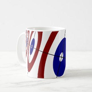 Tasse de café de bordage d'anneaux