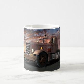 Tasse de café de camion de duel