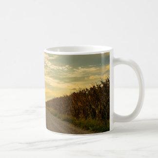 Tasse de café de champ de maïs