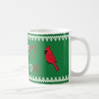 Tasse de café de chandail de Noël avec les