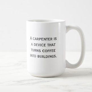 Tasse de café de charpentier
