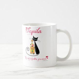 Tasse de café de chat de tequila de Saint-Valentin