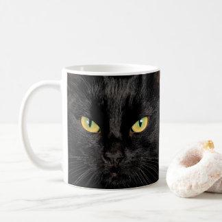 Tasse de café de chat noir