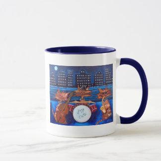 Tasse de café de chats de jazz