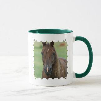 Tasse de café de cheval de course de pur sang