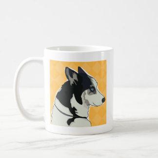 Tasse de café de chien de traîneau sibérien -