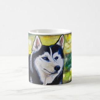 Tasse de café de chien de traîneau sibérien