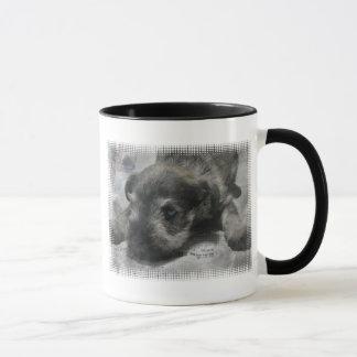 Tasse de café de chiot de Schnauzer