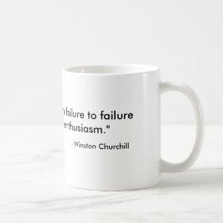 Tasse de café de Churchill de citation de succès