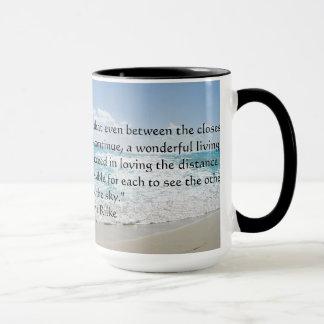 Tasse de café de citation d'amour de Rainer Maria