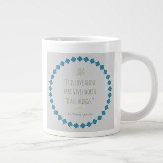 Tasse de café de citation de saint. St Teresa