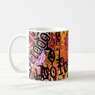 Tasse de café de code binaire