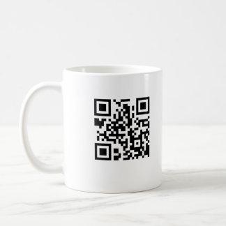 Tasse de café de code de QR